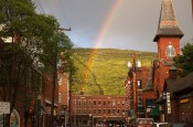 Downtown Brattleboro Rainbow photo by Craig S. O&#039;Connell, used under Creative Commons License
